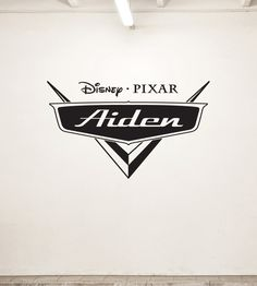 NEW Personalized Disney Cars Logo Design Vinyl Wall Decal for Kids Bedroom Many Colors Large Design. $29.99, via Etsy.