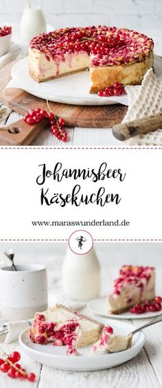 Johannisbeer-Käsekuchen Recipe for a fluffy and juicy currant cheesecake. No Bake Desserts, Easy Desserts, Cake Cookies, Cupcakes, Dessert Oreo, Galette, Coffee Cake, Cheesecake Recipes, Queso