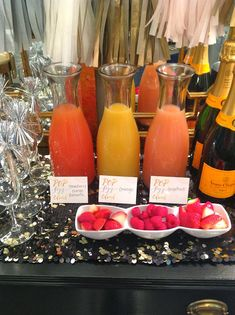 New Year's Day brunch idea: have a mimosa bar!