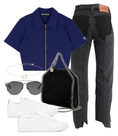 """""""Untitled #3470"""" by camilae97 ❤ liked on Polyvore featuring Vetements, STELLA McCARTNEY, adidas and Christian Dior"""