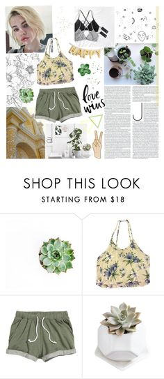 """""""tell me it gets easier"""" by lucidmoon ❤ liked on Polyvore featuring Brandy Melville and Lucky Brand"""