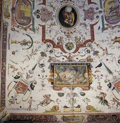 uffizi corridor ceiling - grotesque work    hall1 by lynne.rutter, via Flickr