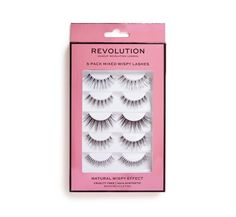 Makeup Revolution 5 Pack Mixed Wispy Lashes - Nepwimpers - Make-Up Musthaves 7 11 Day, Makeup Revolution London, Wispy Lashes, Dramatic Makeup, False Lashes, Natural, Eyelashes, Eye Makeup, Finding Yourself