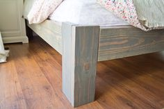 DIY wood bedframe {www.somethingisdone.com}