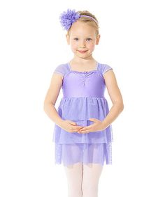 Another great find on #zulily! Lilac Lolly Cap-Sleeve Ruffle Leotard - Toddler & Girls by Mondor #zulilyfinds