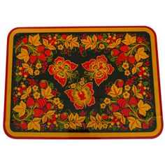 Childhood Khokhloma Painting Table - Butterflies - Woodwork - Home Goods