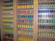 WOW! Check out these curing racks! So many soaps!