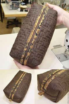 I suggest you make a simple, but very convenient travel cosmetic bag. DIY Tutorial