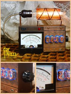 "Steampunk IN-12 Nixie tubes Retro Clock ""darNizza VINTAGE"" by CopperCatGroup on Etsy"