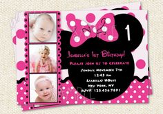 minnie mouse handmade party ideas | Minnie Mouse Custom Photo Birthday Party by LollipopPrints on Etsy