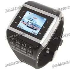 Q5 Watch Style 1.3 Touch Screen Single SIM Quadband GSM Cell Phone - Silver + Black