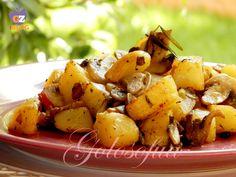 Funghi e patate in padella-ricetta contorni-golosofia