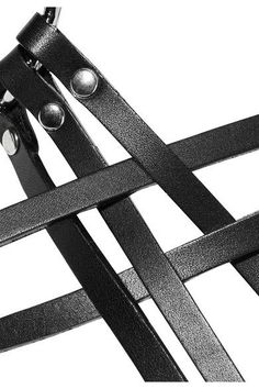 Zana Bayne - Chevron Leather Harness - Black - L