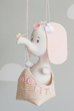 Elephant Baby Mobile Hot Air Balloon Mobile by sunshineandvodka