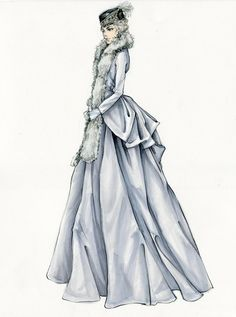 Photos: Sketch to Still: How Anna Karenina's Ill-Fated Heroine Came to Wear Unlucky Capes, Couture-Inspired Gowns, and $2 Million in Chanel Jewels   Vanity Fair
