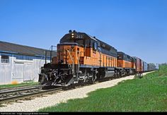 High quality photograph of Milwaukee Road EMD # MILW 203 at Brookfield, Wisconsin, USA. Location Map, Photo Location, Milwaukee Road, Railroad Photography, Locomotive, Brookfield Wisconsin, Trains, Photos, Iron