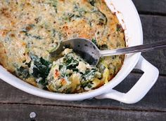 "Barbells and Bellinis: ""Creamed"" Spinach Casserole"