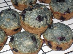 She Bakes Here » Dairy Free Blueberry Oatmeal Muffins