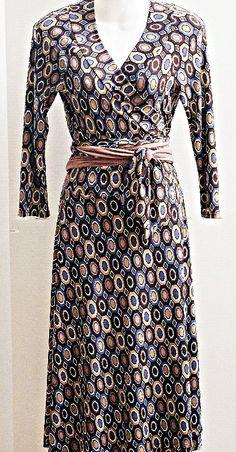 Size PL - Lily - Geometric Wrap Dress - Today Only $22