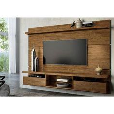 Painel Para TV com Bancada Suspensa Livin 2.2 HB Móveis - Imbuia