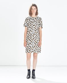 Image 1 of PRINTED DRESS WITH BACK ZIP from Zara