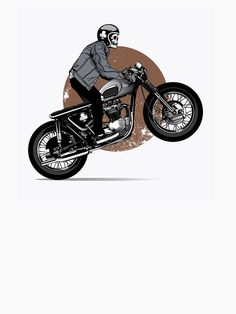 ' T-Shirt by ezyassine Buy Bike, Motorcycle Art, Cafe Racer, Royal Enfield, Sport Bikes, Vespa, Bikers, Art Day, Cars And Motorcycles