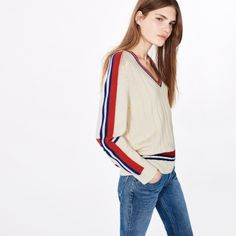 GANT Varsity V-Neck Sweater