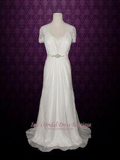 Aspen Style Romantic Silk Chiffon Boho Beach Wedding Dress | Ashley