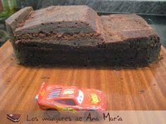 Los manjares de Ana María: Tarta Rayo McQueen (de fondant)