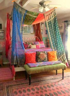 Priscilla Mae et al: Using Saris For Your Home Decor Projects