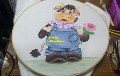 Pintura en Tela    Camisa y Flor   Torito 4