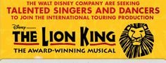 Lion King - Open auditions for dancers and singers at Pineapple Dance Studios | Pineapple