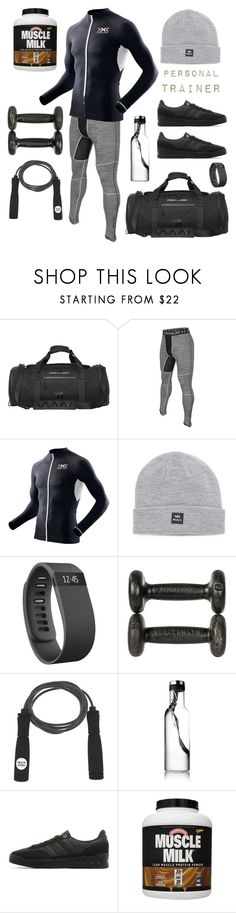 """Teddy Work"" by nightman ❤ liked on Polyvore featuring Porsche Design Sport, Under Armour, X-Bionic, RVCA, Fitbit and adidas Originals"