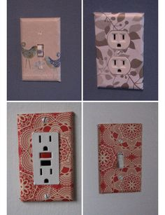 Wallpaper Covered Sockets | DIY Home Decor Ideas on a Budget | Easy and Creative Decor Ideas | Click for Tutorial #BudgetHomeDecorating