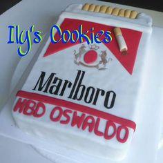 Torta Caja de Cigarrillos *•.¸♥♥¸.•*Ily´s Cookies*•.¸♥♥¸.•*