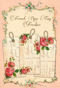 Shabby French Rose Freebie Tags for Shabby Blogs By FPTFY Web ex