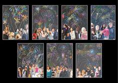 * Laat de ll eerst vuurwerk maken daarna plakken ze de groepsfoto, of van familie ervoor!