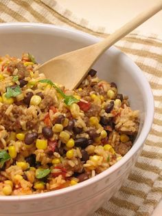 Mexican Sausage Rice Recipe By: Jimmy Dean, found on Willow Bird Baking blog.