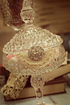 PT Photo: This Photo was uploaded by Find other PT pictures and photos or upload your own with Photobucket free image and video hosting servic. Dessert Buffet, Candy Buffet, Candy Dishes, Vintage Candy, Vintage Decor, Vintage Accessoires, Pots, Swarovski, Altered Bottles