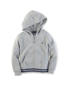 French-Rib Cotton Hoodie - Boys 2-7 Tees & Sweatshirts - RalphLauren.com