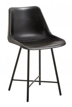 Køb Nordal VEGA spisebordsstol i læder - mørkebrun her.