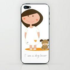 I am a dog lover iPhone & iPod Skin by Ana Sofia Santos - $15.00