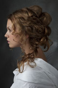 Victorian Wedding Hairstyle Ideas - My list of women's hair styles 1800s Hairstyles, Historical Hairstyles, Steampunk Hairstyles, Victorian Hairstyles, Vintage Hairstyles, Simple Wedding Hairstyles, Halloween Disfraces, How To Draw Hair, Stylish Hair