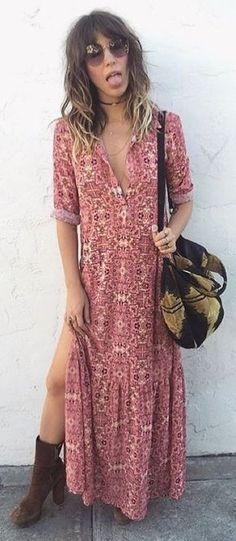 Boho Splited Maxi Dress   ForLoveAndLemons