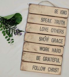 Love Others, Speak The Truth, Hand Painted Signs, Christ, Decor, Decoration, Decorating, Deco