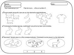 Fise de lucru pentru numerele si cifrele 1-10. – Catalina Bîrsan Preschool Activities, Bullet Journal, Blog, 8 Martie, Crafts, Google, Math Resources, Manualidades, Blogging