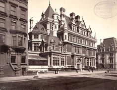"William K Vanderbilt's ""Petit Chateau,"" 1893-1926, Richard Morris Hunt, 660 Fifth Avenue at NW Corner of 52nd St."