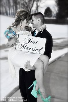 I think this is such a cute picture. I love the black  whites with a little bit of color.