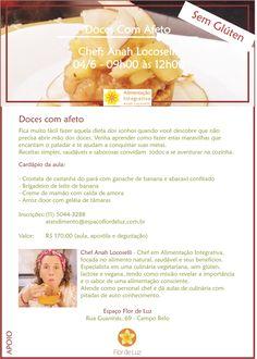 Alimentação Integrativa - Receitas para Viver Bem: AULA DE CULINÁRIA - DOCES COM AFETO - ESPAÇO FLOR ...