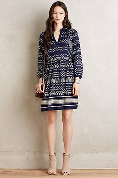 I love this dress with these shoes for a warmer day during the winter. Farica Dress #anthropologie